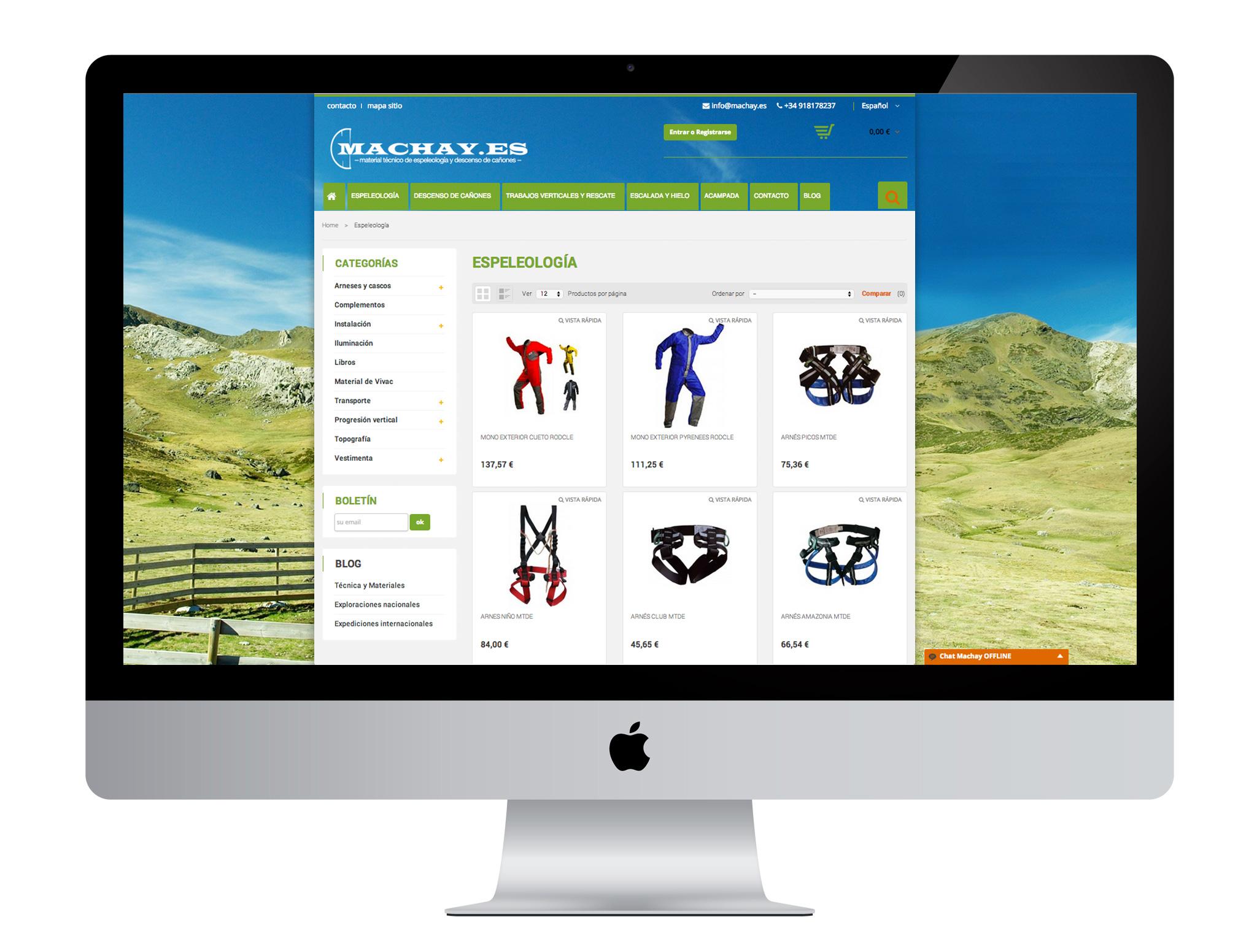 Diseño tienda online realizado por agencia de marketing online Softdream.es
