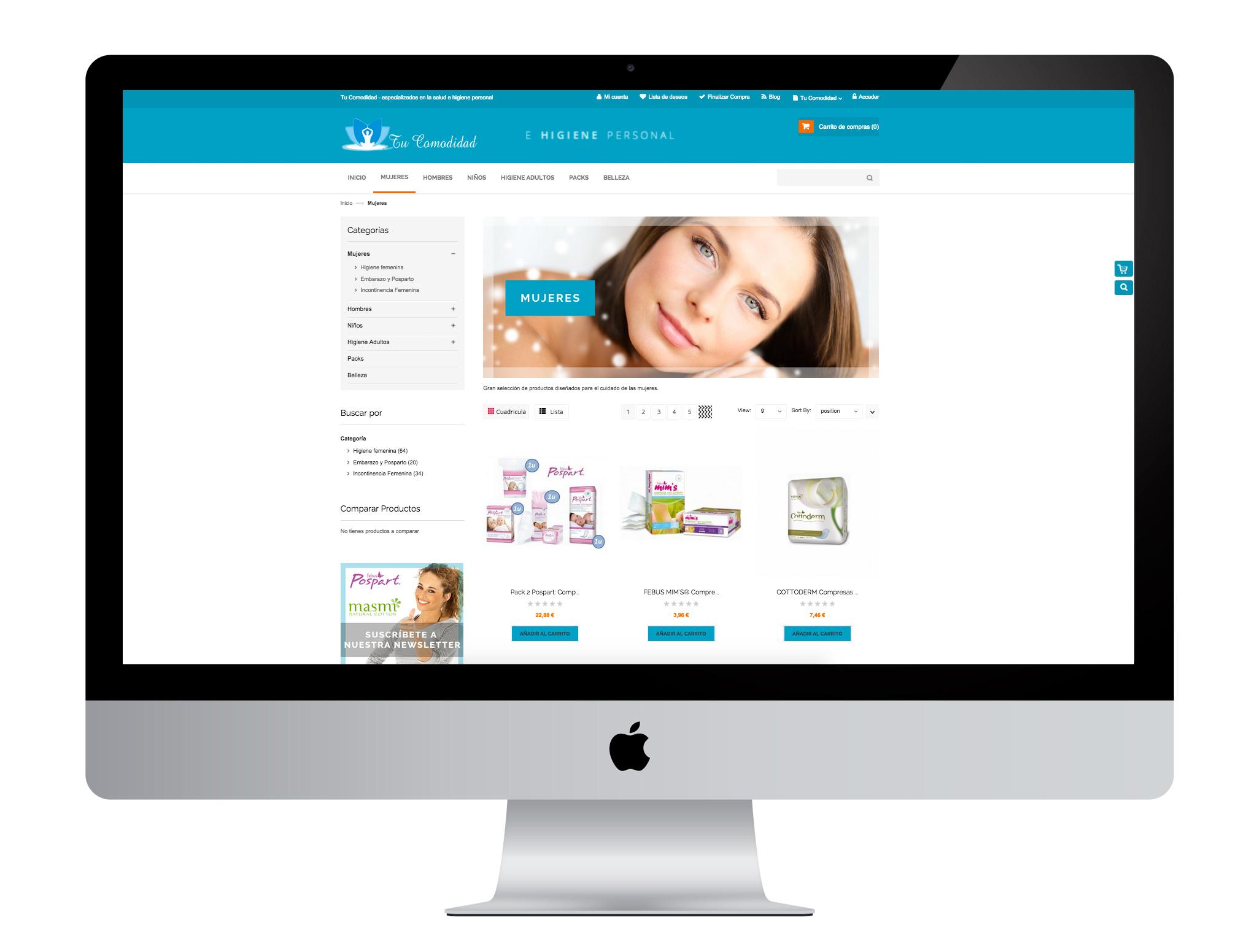 Diseño gráfico y web con magento realizado por agencia de marketing online Softdream